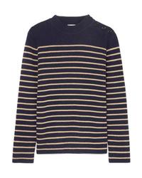 Saint Laurent Striped Wool Blend Sweater