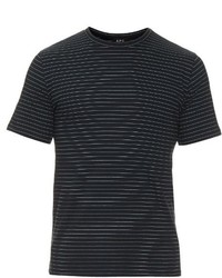 A.P.C. Fine Stripe Crew Neck T Shirt