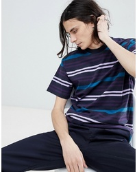 Carhartt WIP Kress Striped T Shirt In Navy