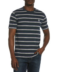 Original Penguin Multi Stripe Crewneck T Shirt