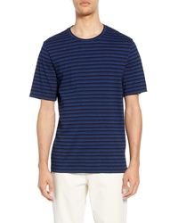 Vince Regular Fit Stripe Crewneck T Shirt