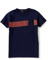 Ben Sherman Short Sleeve Multi Stripe Pocket Crew Tee
