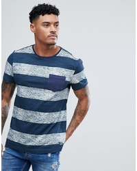 BLEND Stripe T Shirt Navy