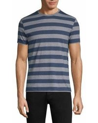 Isaia Striped Cotton T Shirt