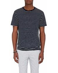 ATM Anthony Thomas Melillo Striped Linen Oversized T Shirt
