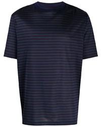 Lanvin Striped Short Sleeve T Shirt
