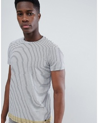 Esprit T Shirt With Stripe Contrast Hem