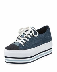 MICHAEL Michael Kors Michl Michl Kors Ronnie Denim Platform Low Top Sneaker Indigo