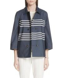 St. John Collection Double Stripe Denim Jacket
