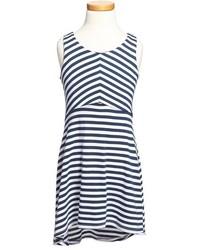 Navy Horizontal Striped Dress