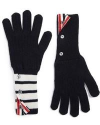 Thom Browne 4 Bar Stripe Cashmere Gloves