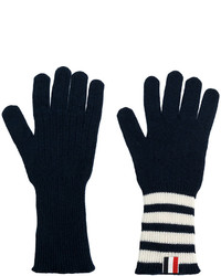 Thom Browne Striped Rib Cuff Gloves
