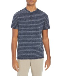 Good Man Brand Slub Stripe Henley Tee