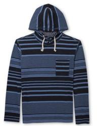 Navy Horizontal Striped Hoodie