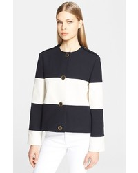 Lanvin Wide Stripe Cotton Piqu Jacket