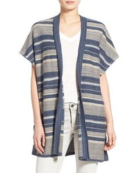 Treasurebond stripe open front cardigan size x smallsmall blue medium 561844