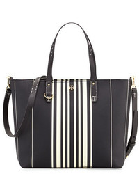Tory Burch Kerrington Small Striped Tote Bag