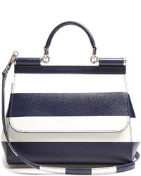 Dolce & Gabbana Sicily Medium Striped Leather Tote