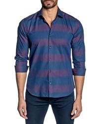 Jared Lang Regular Fit Stripe Button Up Shirt