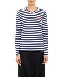 Comme des garons play striped long sleeve t shirt medium 369436