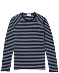 Enlist Oscar Striped Cotton T Shirt