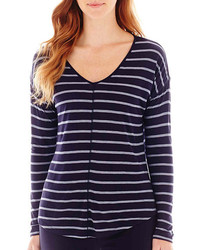 Liz claiborne long sleeve striped v neck tee where to for Liz claiborne v neck t shirts