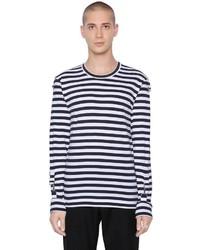 Comme des Garcons Striped Cotton Jersey T Shirt
