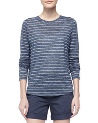 Vince striped linen tee medium 420519
