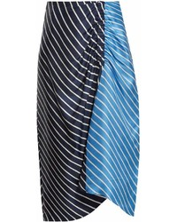 Delphina striped high rise midi skirt medium 6991195