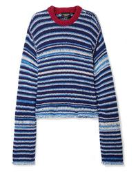 Calvin Klein 205W39nyc Oversized Striped Wool Sweater