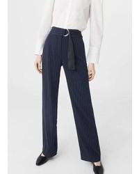 Mango Chalk Stripe Pants