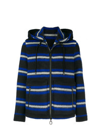 Lanvin Stripes Hooded Coat