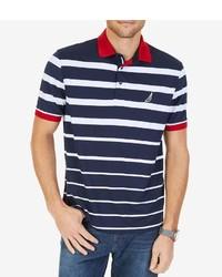 Nautica Big Tall Engineered Stripe Short Sleeve Polo Shirt