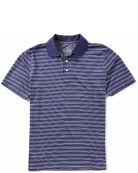 Brooks Brothers Birdseye Outline Stripe Short Sleeve Polo Shirt