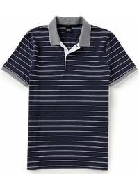 Hugo Boss Boss Boss Phillipson Modern Fine Stripe Pique Short Sleeve Polo Shirt