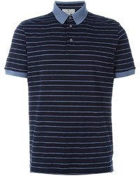 Canali Striped Polo Shirt
