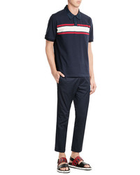 Marni Cotton Polo Shirt With Colorblock Stripe