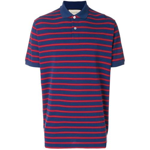 82918e1ab885 ... Gucci Stonewashed Stripe Polo Shirt ...