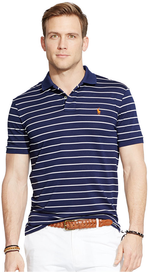 ... Horizontal Striped Polos Polo Ralph Lauren Striped Performance Mesh Polo  Shirt ...