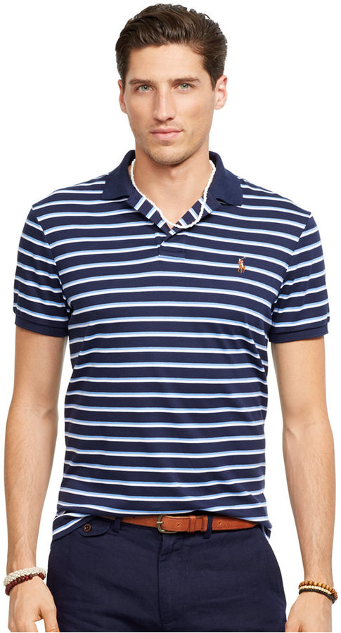 ... Horizontal Striped Polos Polo Ralph Lauren Striped Pima Soft Touch Polo  Shirt ...