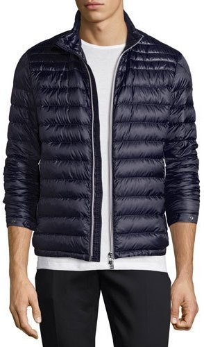 ... Navy Horizontal Striped Puffer Jackets Moncler Moncler Daniel Quilted Puffer Jacket