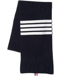 Thom Browne Cashmere Rib Kit Scarf W Stripes