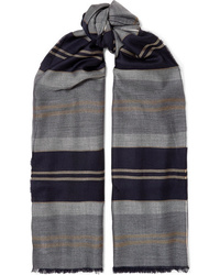 Johnstons of Elgin Fringed Striped Cashmere Stole
