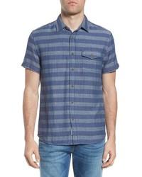 Grayers Folsom Stripe Short Sleeve Sport Shirt