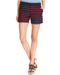 Basket weave striped shorts medium 159474