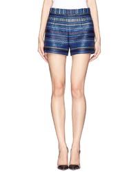 Casie stripe jacquard shorts medium 166276