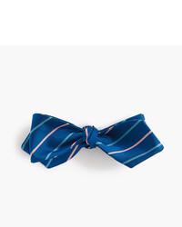 J.Crew Silk Bow Tie In Vintage Navy Stripe