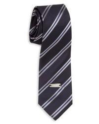 Armani Junior Boys Striped Silk Tie