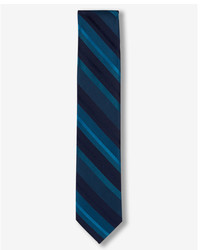 Express Diagonal Stripe Slim Silk Tie