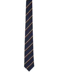 Brunello Cucinelli Navy Tan Stripe Tie